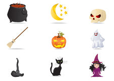 Collection halloween stickers Royalty Free Stock Photo