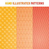 Collection of hand draw vector patterns. Royalty Free Stock Image