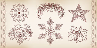 Collection of hand drawing design elements. Royalty Free Stock Photo