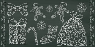 Collection of hand drawing design elements. Stock Photography