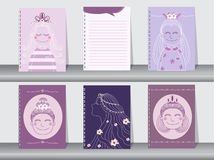 Collection of hand drawn cards,book and invitations Stock Photo