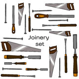Collection of hand drawn Carpentry Stock Photo