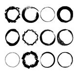 Collection of hand drawn circles Royalty Free Stock Photos