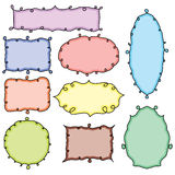 Collection of hand drawn doodle frames Stock Image