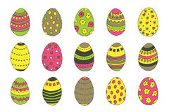 Collection of hand drawn easter eggs. Image with hand drawn easter eggs Stock Image