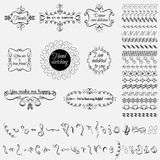 Collection of hand-drawn elements Stock Images