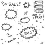 Collection of hand drawn frames Royalty Free Stock Image