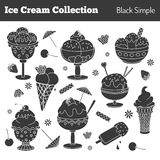 Collection of hand drawn ice cream treats Stock Photography