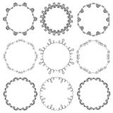 Collection of hand drawn ornamental circle frames Royalty Free Stock Photography