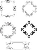 Collection of hand drawn sketches, decorative vintage frames, vi Royalty Free Stock Images