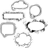 Collection of hand drawn speech bubbles and dialog Stock Photography