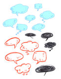 Collection of Hand drawn speech bubbles Stock Photography