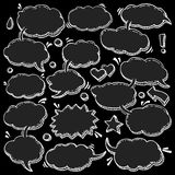 Collection of Hand Drawn Speech Bubbles. A Few Utterances Vector Speech Bubbles Set. Collection of hand drawn design elements for your blog, social network posts Stock Image