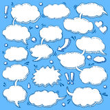 Collection of Hand Drawn Speech Bubbles. A Few Utterances Vector Speech Bubbles Set. Collection of hand drawn design elements for your blog, social network posts Royalty Free Stock Image