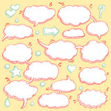 Collection of Hand Drawn Speech Bubbles stock illustration
