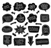 Collection of hand drawn speech bubbles. royalty free illustration