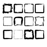 Collection of hand drawn squares Stock Photos