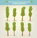 Collection of hand drawn trees Stock Photography