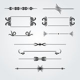 Collection of hand drawn vintage frames for text decoration  Royalty Free Stock Photography