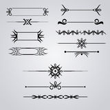 Collection of hand drawn vintage frames for text decoration Royalty Free Stock Photos