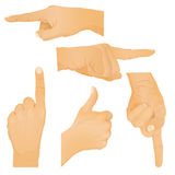 Collection of hand gestures. Vector illustration Royalty Free Stock Photo