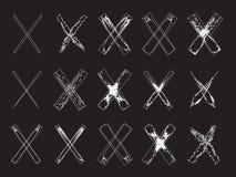 Cross Mark Set stock illustration
