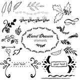 Collection hand-sketched vector element Royalty Free Stock Photos