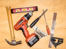 Hand tools to Go stock photos