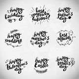 Collection of hand written congratulations. Stock Photography