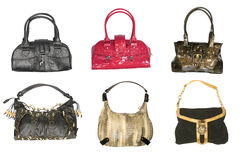 Collection of handbags Stock Photos