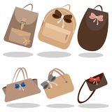 The collection of handbags stock illustration