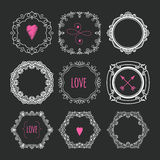 Collection of handdrawn laurels and wreaths Royalty Free Stock Images