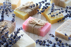Collection of handmade soap Royalty Free Stock Image