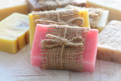 Collection of handmade soap Stock Photo