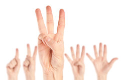 Collection of hands Stock Images