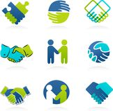 Collection of Handshake icons Royalty Free Stock Image