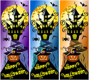 Collection Happy Halloween Vertical Banners Royalty Free Stock Images