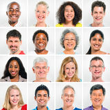 Collection Of Happy Multi-Ethnic People royalty free stock photo