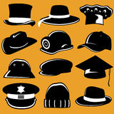 Collection of hat Royalty Free Stock Image