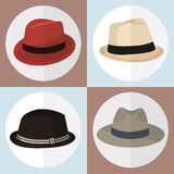 Collection of hat man icon great for any use. Vector EPS10. Royalty Free Stock Photography
