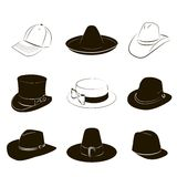 Collection of hats Royalty Free Stock Photo