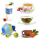 Collection of healthy drinks Royalty Free Stock Image