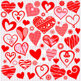Collection heart Stock Photo