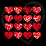 Collection heart Stock Image