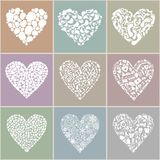 Collection heart. On different themes of love. A vector illustration Royalty Free Stock Photography