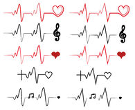 Collection heart beat. Collection two version heart beat Stock Image