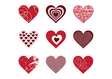Collection of heart elements Stock Photography