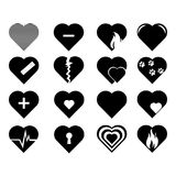 Collection of heart symbol.Vector hearts. Icons set Royalty Free Stock Photos