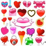 Collection of heart symbols Stock Photos