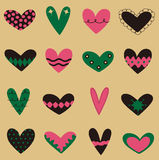 Collection heart vector Royalty Free Stock Images